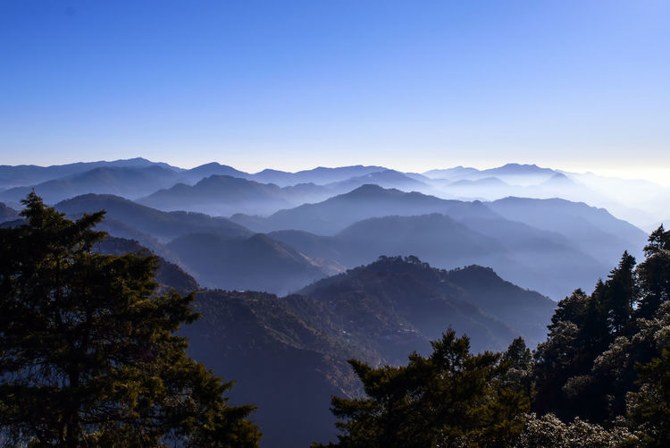 Layers of Hills... Scenics - Nature Beauty In Nature Mountain Tranquil Scene Tranquility Sky Tree Mountain Range Plant No People Nature Non-urban Scene Idyllic Clear Sky Environment Copy Space Landscape Day Majestic Outdoors Mountain Peak