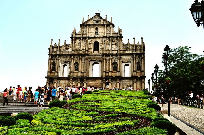 Eyeem Philippines EyeEm Best Shots Eye4photography  Urban Church Macau Ruins Of St.Paul's Daylight Scenic Ruins