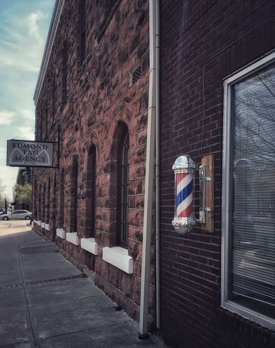Barber shop Edmond Oklahoma  Downtown District Barbershop Building Exterior Architecture Built Structure City Day Building No People Street Outdoors Wall - Building Feature Wall
