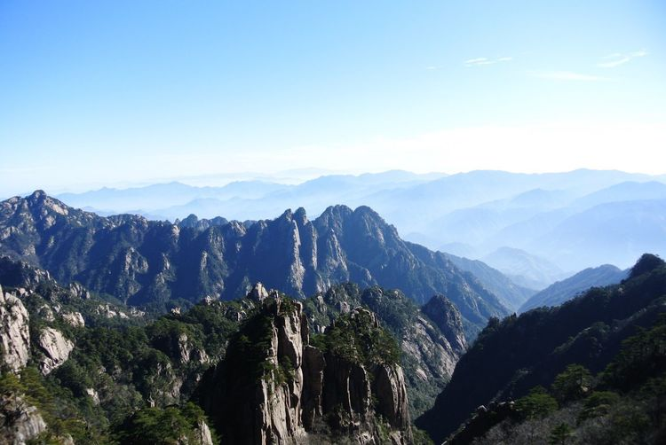 Huangshan Eye4photography  Mountains Nikonphotography Getty X EyeEm EyeEm Best Shots Travel Photography The Traveler - 2015 EyeEm Awards China Photos From Where I Stand Landscape_Collection Landscape_photography Blue Sky High Angle View China