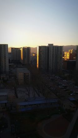 How's The Weather Today? Beijing, China Blue Sky Sundown Behind The Mountains The View From My Window