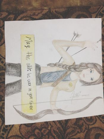 Katniss The Hunger Games Fire Draw ✏️✏️✏️✏️