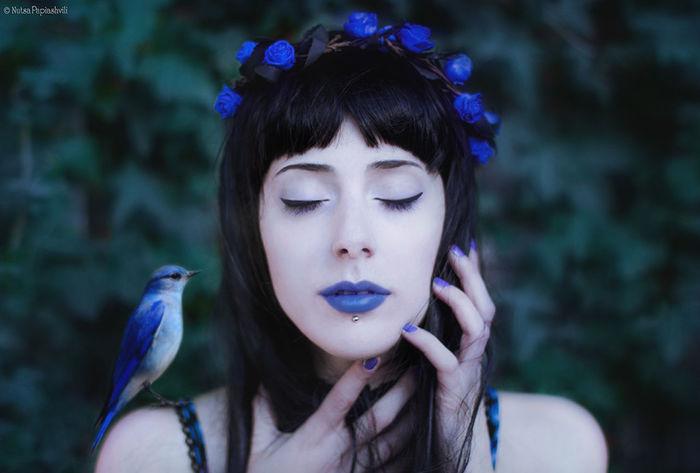 Beauty Girl Bird Blue Dreaming Dreams Fairy Tale Fairytales & Dreams Mistyc First Eyeem Photo
