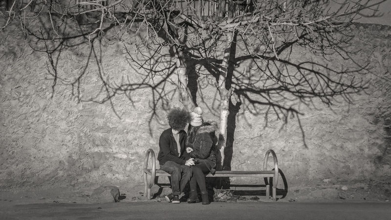Friends Adult Bare Tree Blackandwhite Botany Branch Childhood Closeness Data Day Friendship Girl Hidding Nature Outdoors People Randevous Relaxation Sitting Streetphotography Togetherness Touching Hands Tree Two People Young Adult
