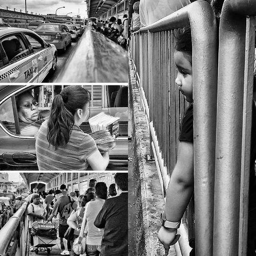 El Puente de las Esperanzas - Bridge of Hope. Fotografiaromero Bw Laredo NuevoLaredo