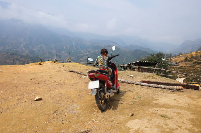 Backpacking Beauty In Nature Child Cloud - Sky Enjoyment Landscape Moped Mountain Nature Outdoors Sapa Scenics Sky Travel Vacations Vietnam Wanderlust Feel The Journey
