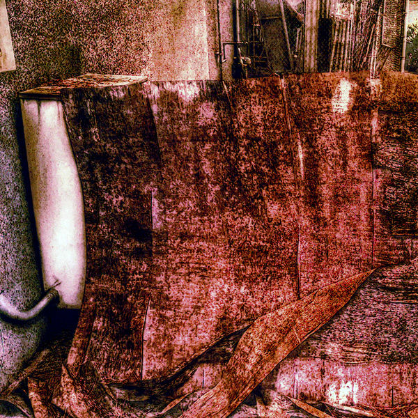 Outside Dumpster Old Wood Garbage Dirt Board Garbage Bin Garbage Or Art? Meter Pipe Building Building Exterior Stuff Junk Photoshop Paint Effect Color Grungy Texture Ground Decay Decaying Decaying Wood Falling Apart the side of a building in Tigard, Oregon 2016