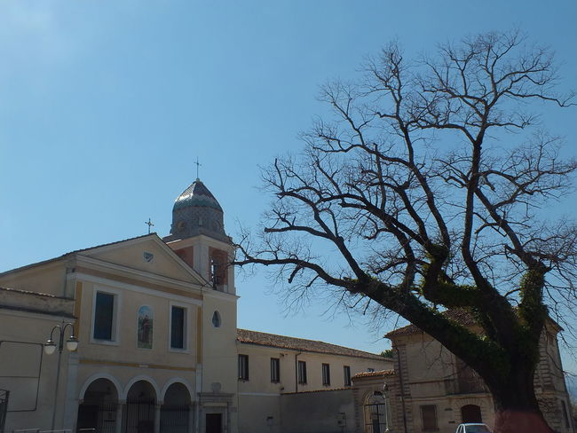 Architecture Bare Tree Beautiful Building Exterior Built Structure Campania Church Clock Day Landscape Landscape_Collection Low Angle View No People Outdoors Padula Peace Place Of Worship Religion Sky Tree
