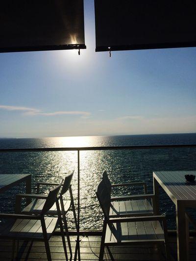 Just the sea and the sun! Water Sky Sea Horizon Horizon Over Water Scenics - Nature Nature Outdoors