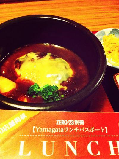 煮込みハンバーグ定食。ランパスで750円→500円 Lunch Passport