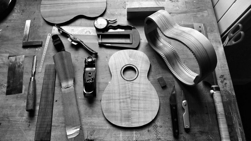 Tools of the trade. Work Tool Workshop String Instrument Luthier