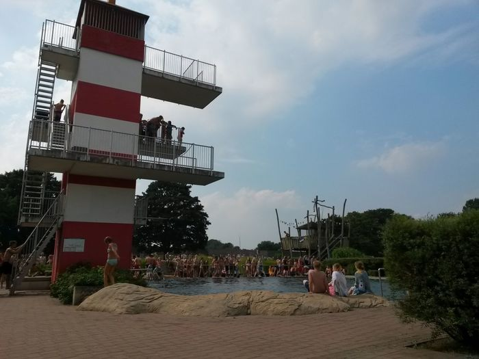 Summer Summertime Swimming Swimming Pool Pool Swim Go Swimming Refresher Refreshing Swimming Bath Lido Open Air Bath Baths Diving Platform Diving Jump Courage The Magic Mission High Dive High Diving Take A Leap The Leap  Leap Of Faith Diving Pool Summer Vibes
