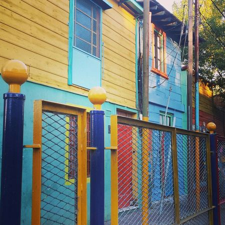 Buenos Aires, Argentina  La Boca Houses And Windows Colours