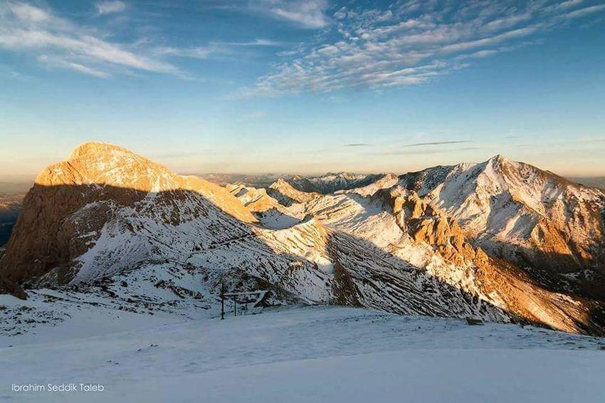 Mountain Snow Cold Temperature Winter Sunset Rural Scene Snowcapped Mountain Sky Landscape Mountain Range