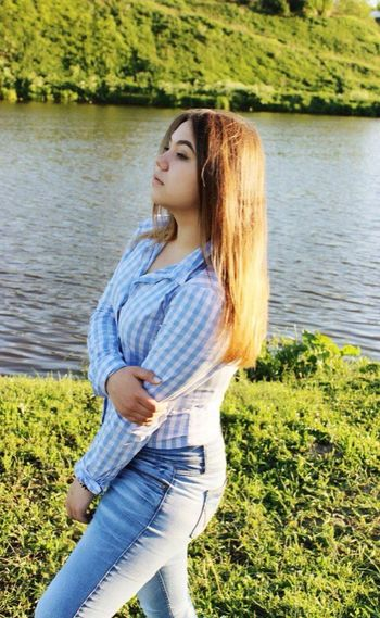 Water Lake Young Women People Day Nature One Person Standing Sunlight Russian Girl Newyork Sky Lifestyles Real People Young Girl Boston Russian Federation Nature