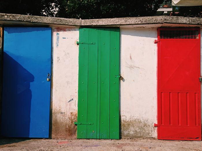 Doors Architecture Bright Colors Bright Sunlight Sunset Doorway Door Multi Colored Closed Door