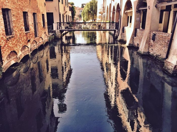 Buranelli Little Venice Canal Treviso, Italy From My Point Of View Veneto Veneto Italy Italy Walking Around Old Town Taking Photos IPhoneography Treviso Portici Water Water Reflections Architecture Bridge My Favorite Place Peaceful Hidden Gems