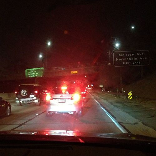 How is there traffic at 12:30 am?!?! Onlyinla Fml Packed101 @elinaraujo