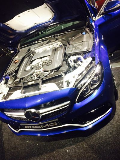 Mercedes AMG Blue Engine Expensive Royal