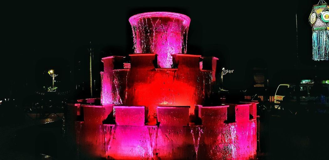 fountain Slowmotion Fountain_collection Fountaiwithlight Hotels And Resorts Fountain Lights Black Background Drink Red Close-up