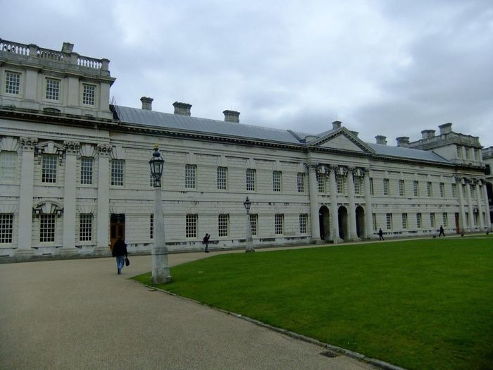 Royal Naval College, Greenwich Royal Naval College Greenwich London Architecture Building Exterior Building Grass History Lawn Sky Cloud Tourism Tourism London