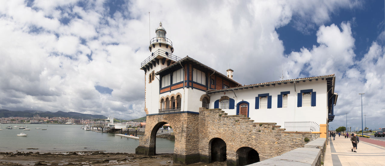 Basque Country Bizcaia Euskadi Getxo Lighthouse Panorama Panoramic Sea SPAIN Vizcaya