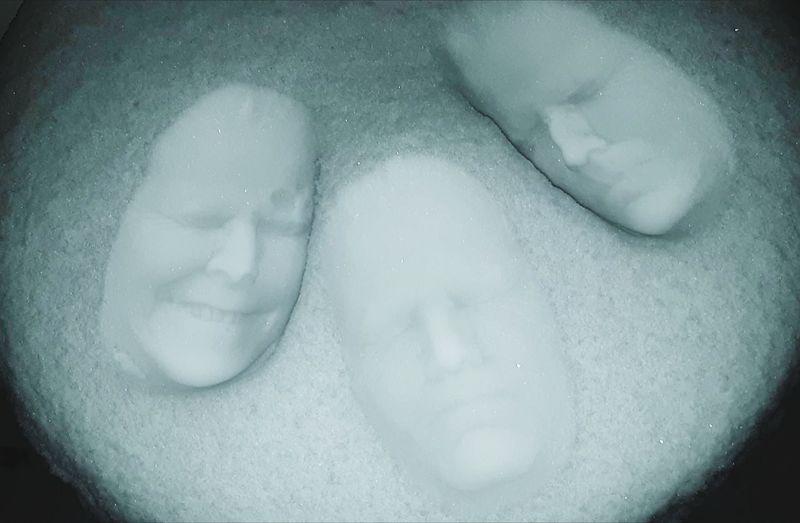 Snow Portrait Faces Portrait Of A Woman Beauty Cold Temperature Human Face Hygiene Water Close-up