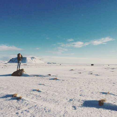 Snowy plains and contemplation Iceland