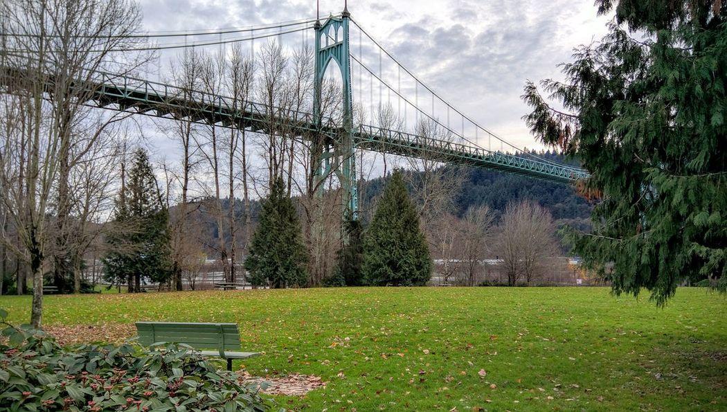 Brisk afternoon photoshoot at St. Johns Cathedral Park St. Johns Bridge  Portland, OR Bridge Columbia River