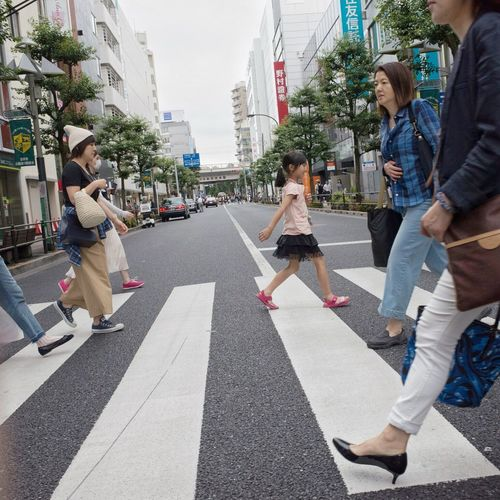 People Snapshot Streetphotography CityWalk On The Road City Life City Street Crossing Walking at Kichijoji 吉祥寺 , Tokyo Japan
