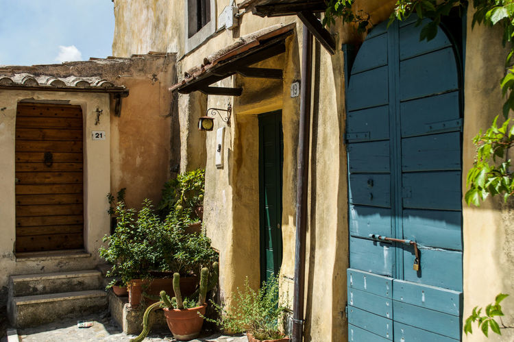 Architecture Building Exterior Calcata Day Door House Italy No People Old Doors Old Houses Outdoors Town Village