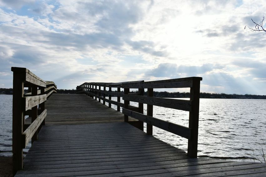 Landscape Sunlight Wood - Material Nature Outdoors Pier Cloud - Sky No People Sky Wave Beauty In Nature Fishing Dock Bay Water This Week On Eye Em