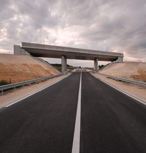 New road with footbridge