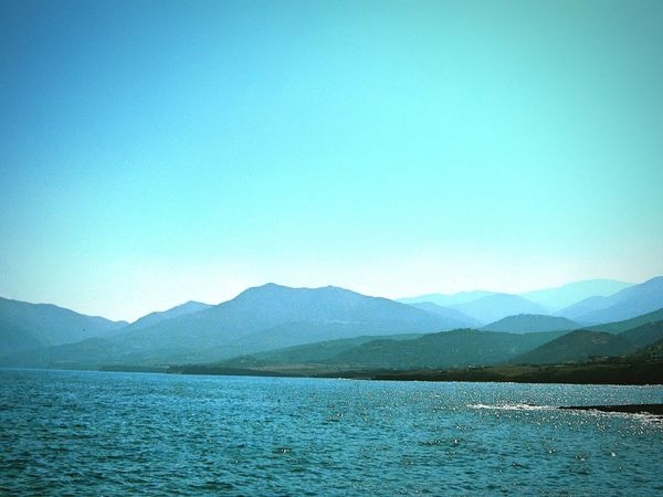 Taken by me on my old Canon camera back in September 2011. Summer Blue Wave Aegean Horizon Mochlos Crete Greece Europe 2011