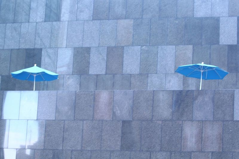 High Angle View Blue Day No People Outdoors Multi Colored The Graphic City