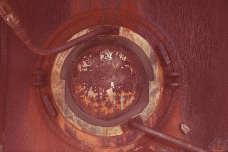 Urbex - 14 No People Indoors  Geometric Shape Close-up Circle Wood - Material Day Old Shape Rusty Brown Technology Still Life Metal Directly Above Reflection Detail Design Container