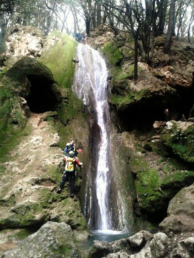 Mallorca Salt Des Freu Sports Team Headwear Extreme Sports Rappelling Wilderness Area Water Climbing Waterfall Protective Workwear Mountain