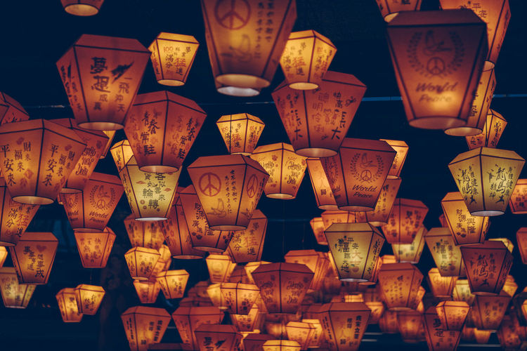 sea of lanterns... Arrangement Close-up Color Palette Colour Of Life Decoration Design Electric Lamp Electric Light Glowing Group Of Objects Illuminated In A Row Lamp Large Group Of Objects Light Lighting Equipment Lit No People Repetition Side By Side Color Palette Mission Finalists