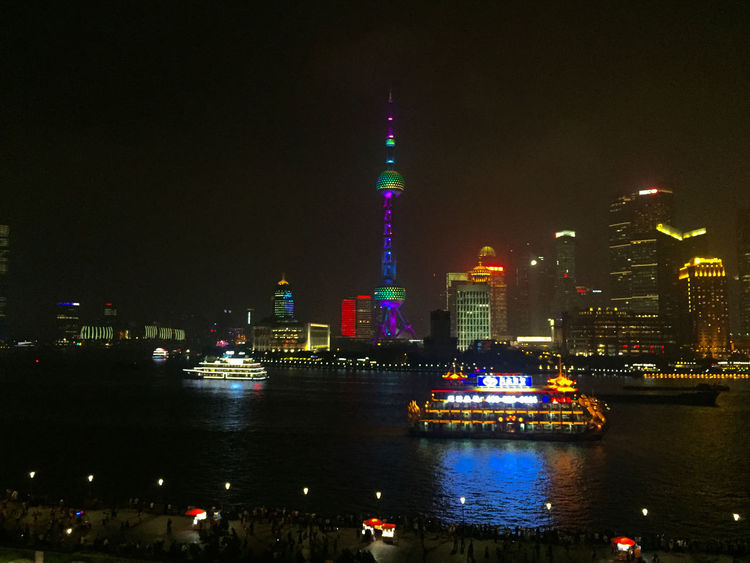 Architecture City Cityscape Illuminated Night Pearl Tower  Shanghai Skyline At Night Skyscraper Travel Travel Destinations
