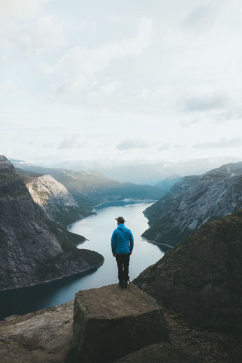 Mountain Beauty In Nature Sky Nature Scenics - Nature Mountain Range Outdoors Non-urban Scene Norway Trolltunga Nature Nature_collection Nature Photography Naturelovers Landscape Landscape_Collection Landscape Photography Landscapes Travel Travel Destinations Traveling Exploring View Outdoor Outdoor Photography