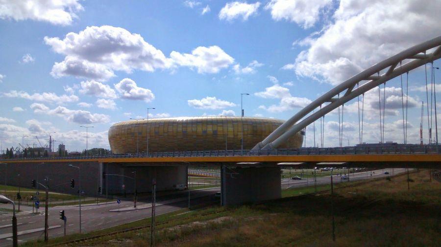 Going To Concert Gdansk Pgearena Stadium Sky City Clouds Summer Summertime Landscape