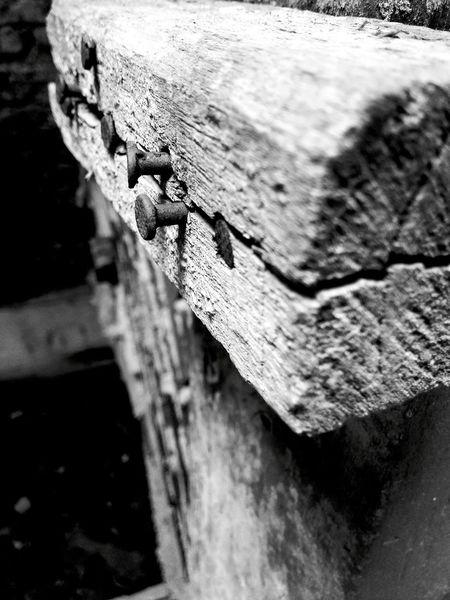 Blackandwhite Art Wood Nails Abstract