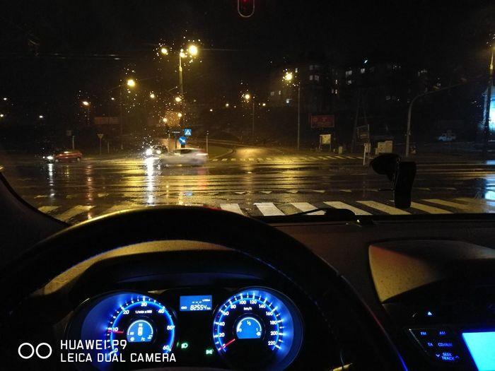 Car Night Transportation Mode Of Transport Illuminated No People City Car Interior Driving Close-up Outdoors First Eyeem Photo