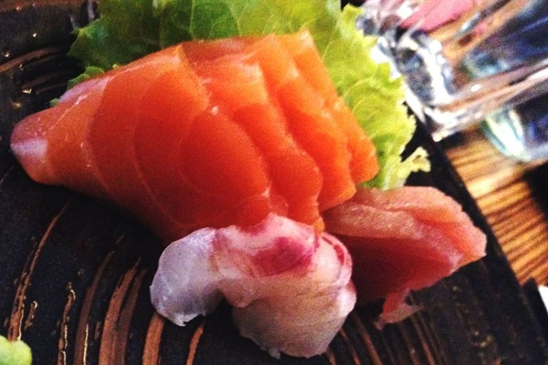 Sushi On A Date Eating Fresh Withmylove Coolphoto Tonkatsu OSAKA Voghera Salmon Sashimi