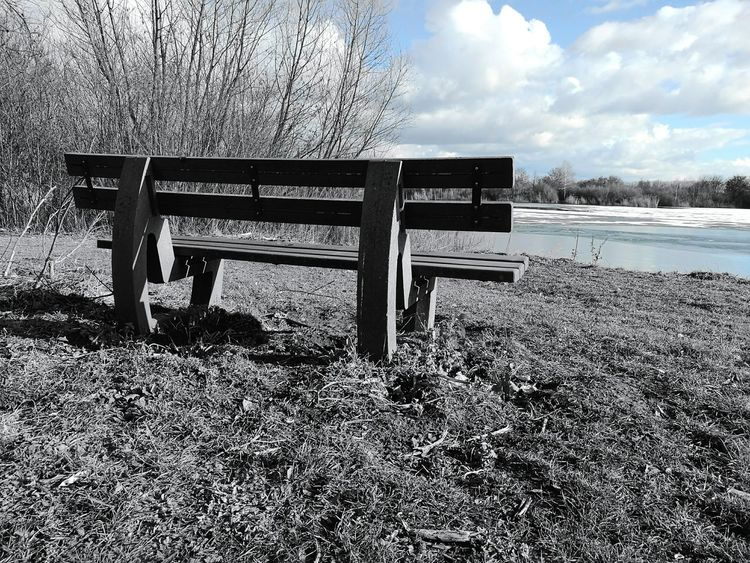 Water Sky Cloud - Sky Outdoors Day No People Sea Long Goodbye Horizon Over Water EyeEmNewHere Huaweiphotography Beauty In Nature EyeEm Diversity Mutter Natur Art Is EverywhereMothernature Nature Park Parkbank The Secret Spaces Bench Parkbench Parkbeauty Bench Seat Bench In The Woods