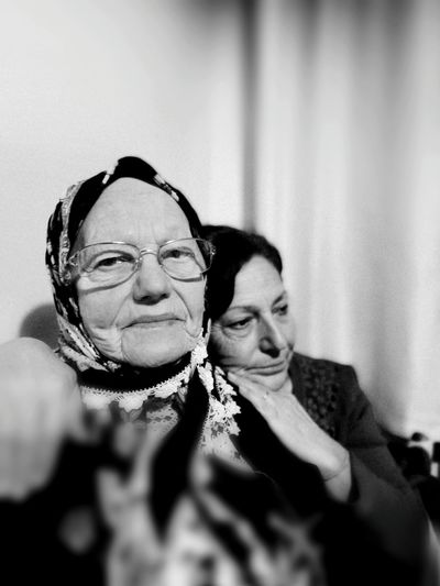 Two People Mature Adult Eyeglasses  Real People Indoors  Mature Women Togetherness Business Business Finance And Industry Smiling Adults Only Day Sedness Well-dressed Old Family Faces Of EyeEm Focus On Foreground Monochrome People Of EyeEm People And Art Peoplewatching In Istanbul Oldwomen