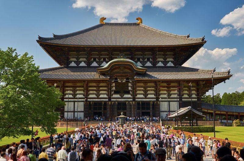 People at todaiji temple