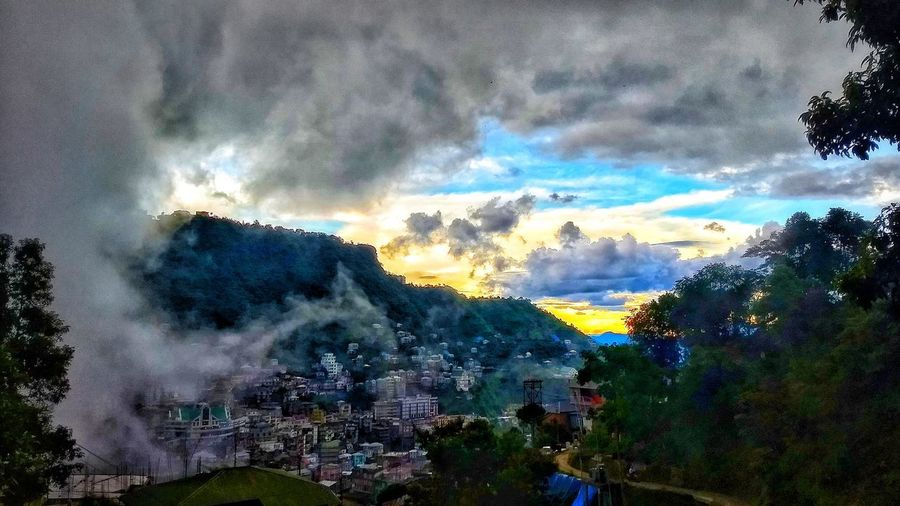 A view from the bedroom window. Dramatic Sky Cloud - Sky Sky Beauty In Nature No People Nature Mountain Mizoram Aizawlcity Mobilephotography
