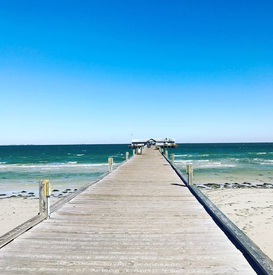 Sea Beach Pier Scenics The Way Forward No People