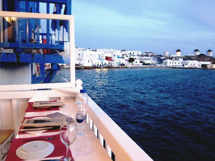Dinnerwithaview Mykonos,Greece Sunset_collection Cyclades Greece Sunset Holiday Blessedlife Enjoying Life Eyem